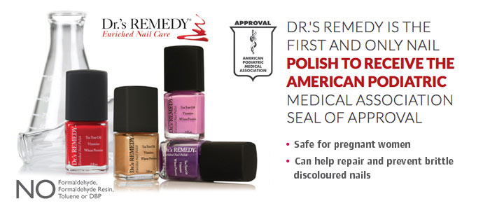 Discover the podiatrist formulated alternative to traditional nail polish