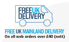 Free Delivery on web orders over £40 (nett)