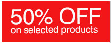 50% Off Selected Items