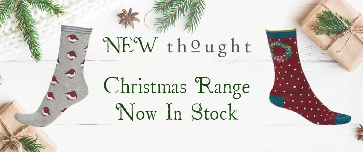 Thought socks Christmas range now in stock