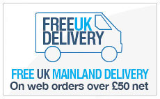 Free Uk mainland delivery over £50 net