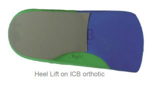 Heel Lift on ICB orthotic