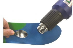 Using heat on ICB Orthotic.