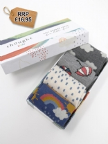Overcast Bamboo Baby Weather Socks Gift Box