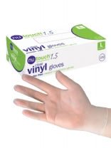 Nutouch Clear Vinyl Powder Free Disposable Gloves