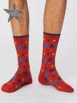 Mens Gaming Socks Red
