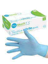 Nutouch New Generation Powder Free Blue Sensitive Nitrile Gloves