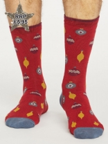 Bauble Spot Socks RED