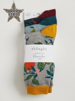 Womens Thought Winter Fruits Socks  x 3