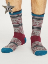 Thought mens bicycle socks in mid grey marle