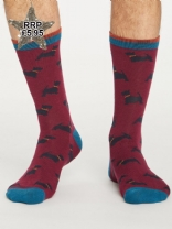 Thought Mens Hound Socks Bilberry