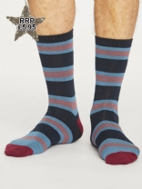 Thought Mens Jesper Stripe Socks Ash Blue
