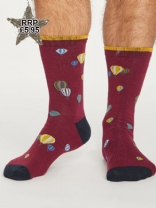 Thought Mens Socks in bilberry