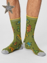 Mens Bicycle socks Olive green
