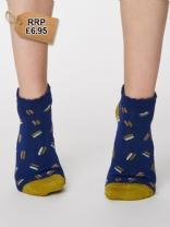 DARK BLUE Sallie Ankle Socks UK 4-7