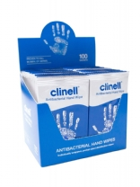 Clinell antimicrobial hand wipes 100 per box
