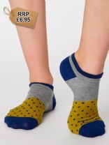 Blue Esther Trainer Socks