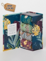 Womens Garden Flowers Sock Box