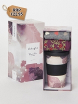 Hearts Bamboo Cup & Socks Gift Pack