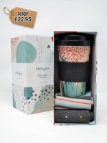 Arrah Bamboo Reusable Eco Coffee Cup And Socks Box