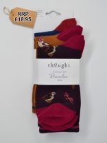 Thought Felice Bamboo British Birds Sock Pack