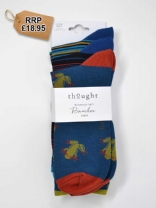 Hugh Bamboo Stripe Frog Socks