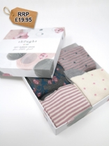 Rose Bamboo Kids Spot/Stripe Socks Gift