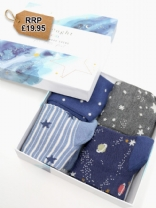 Twinkle Bamboo Kids Night Sky Socks Gift Box