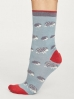 Thought Animal Kin Socks Dusty Blue.