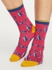Thought Animal Kin Socks Magenta.