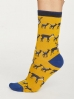 Thought Animal Kin Socks Mustard.